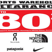 Outdoor Venture will be having Sports Warehouse Clearance Sale from 29 April to 1 May, Winter & Sports Apparel, Backpacks and more from brands like The North Face, ASICS, On, Patagonia, Nike going at up to 80% off