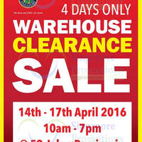 Read more about Pan-West Warehouse Clearance Sale 14 - 17 Apr 2016