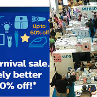 Philips Carnival Sale will be happening from 13 May to 15 May 2016 at 622 Lorong 1 Toa Payoh featuring discounts of up to 60% off selected Philips home appliances, consumer lifestyle and lightings