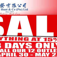 Phoon Huat will be having a Labour day weekend sale at all 12 outlets - enjoy 15% off storewide on their popular baking products