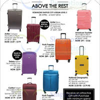 Read more about Robinsons Luggage Deals at JEM 28 Apr - 4 May 2016