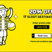 Read more about Scoot 20% Off Fares to 17 Destinations Promo Code for AMEX Cardmembers from 27 Apr - 4 May 2016