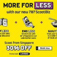 Read more about Scoot 30% Off ScootBiz Seats Promo Code 6 - 10 Apr 2016