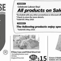 Sea Horse celebrates Labour Day with a 8% OFF storewide promotion till 3 May 2016. The following products enjoy special discount (20% to 50% off)