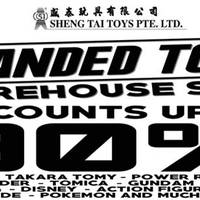 The much awaited Sheng Tai's Branded Toys Warehouse Sale fair is back from 28 April to 2 May at Eunos Warehouse Complex. Discounts are up to 90% off Bandai, Takara Tomy, Power Rangers, Kamen Rider and more