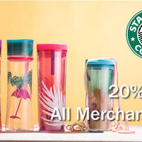 Get 20% off all merchandise at Starbucks from 1 to 2 May 2016. One week to Mother's Day, time to get shopping.