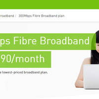 StarHub is now offering a new $29.90/mth 300mbps fibre broadband plan. M1 has also been offering a $29/mth plan but it is limited to 200mbps.