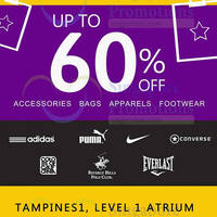 Read more about Super Sale Up to 60% Off @ Tampines 1 from 18 - 24 Apr 2016