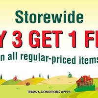 The Cocoa Trees is having a Buy 3 Get 1 Free Storewide promotion at all outlets (except in Airport, Warehouse outlet and Atriums). Valid for regular-priced items only