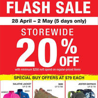 Read more about The North Face 20% Off Storewide Flash Sale from 28 Apr - 2 May 2016