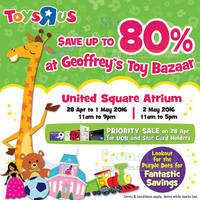 "Read more about Toys ""R"" Us Geoffrey's Toy Bazaar at United Square from 28 Apr - 2 May 2016"