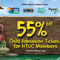 Read more about Wildlife Parks 55% Off Child Admission Tickets for NTUC Members from 1 - 31 May 2016
