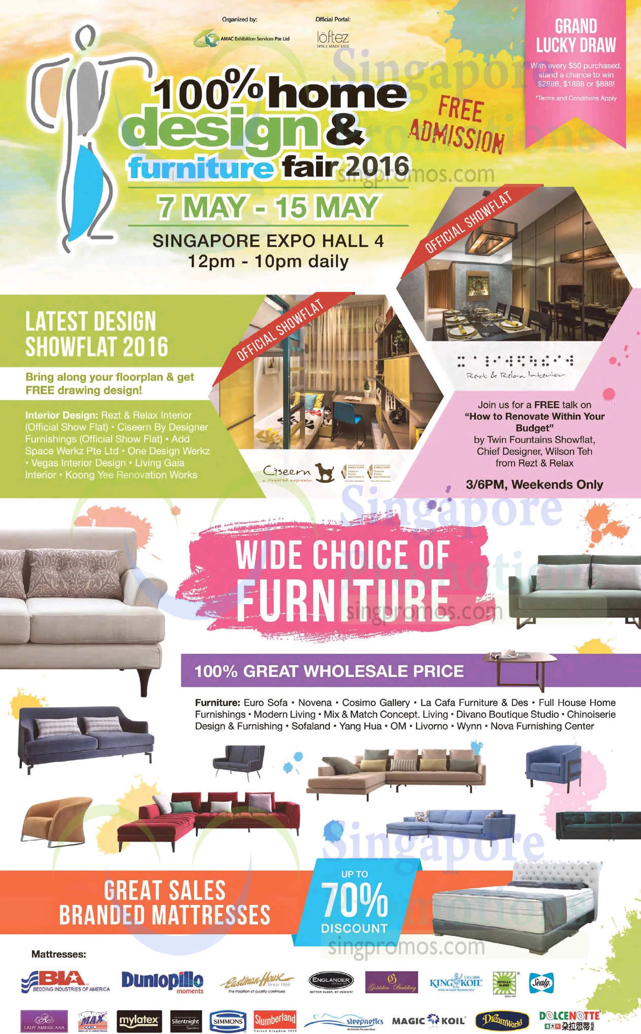 100 Home Design 7 May 2016 100 Home Design Furniture Fair At Expo From 7 15 May 2016
