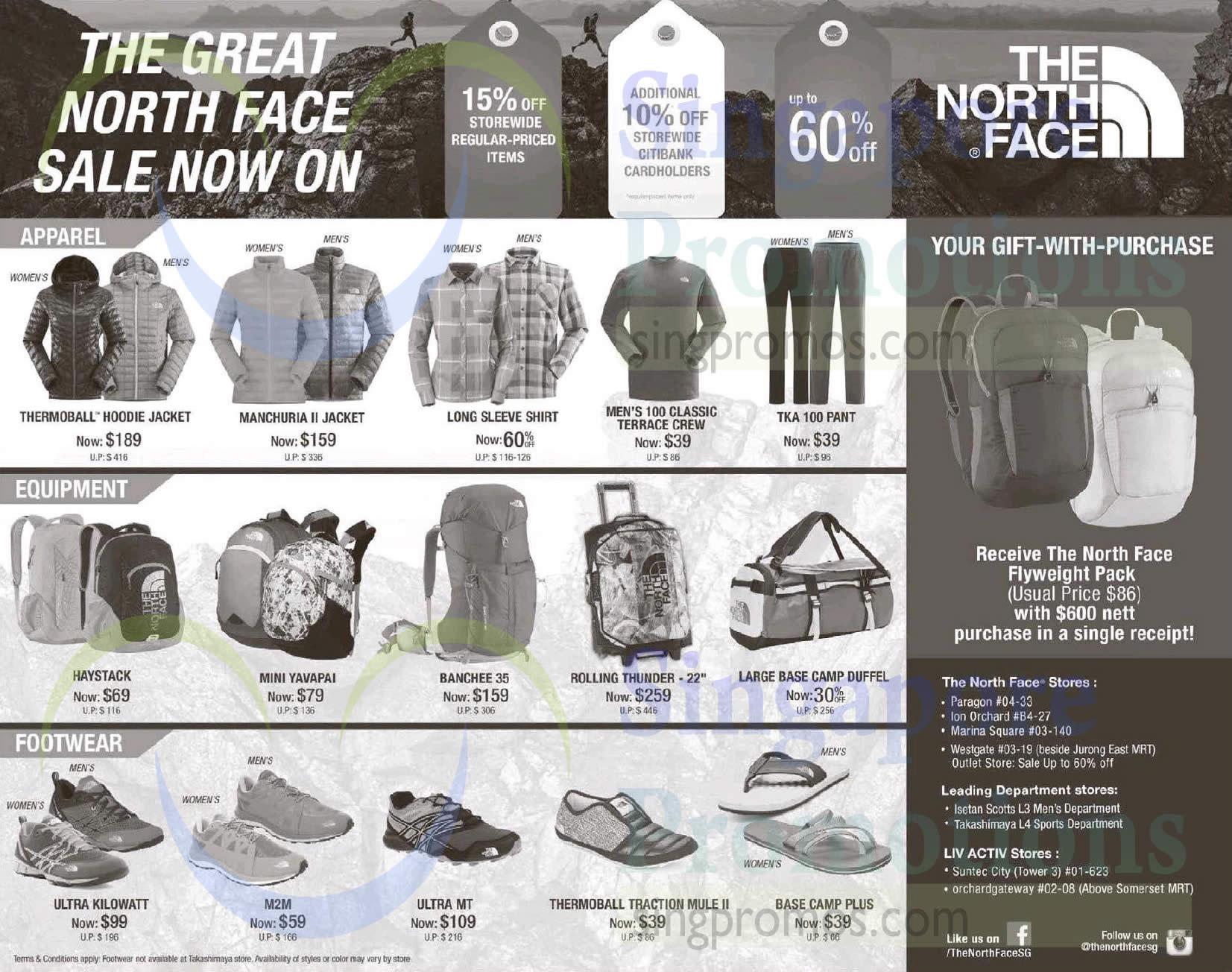 3 Jun The North Face Shirts, Backpacks, Shoes