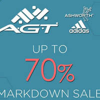 A.G.T will be having a adidas & Ashworth Markdown Sale from 30th May to 5th June 2016, at Bukit Panjang Plaza Atrium, 10.30am-9.30pm.