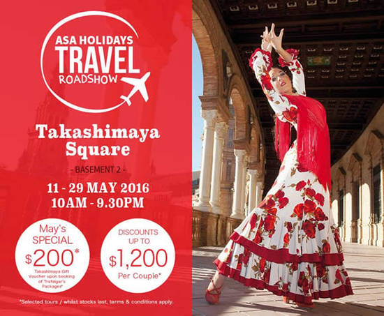 ASA Holidays Travel Roadshow at Takashimaya from 11 – 29 ...