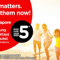 Family matters. Travel with them via Air Asia's latest promo base fares starting from $5 till 8 May 2016