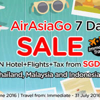 Air Asia Go is having a 7-Days SALE promotion. Grab a 3D2N hotel + flights + taxes vacation from just $85/pax to Thailand, Malaysia and Indonesia