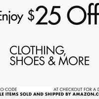 Read more about Amazon.com $25 OFF Clothing, Shoes & More Coupon Code From 13 May 2016
