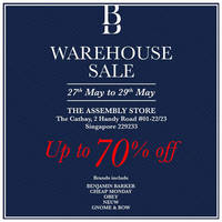 Read more about Benjamin Barker Warehouse Sale at The Cathay from 27 - 29 May 2016