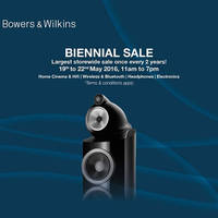 Read more about Bowers & Wilkins Biennial Sale from 19 - 22 May 2016