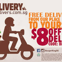 Read more about Burger King $8 OFF & Free Delivery Coupon Code (ALL Customers) From 14 - 29 May 2016