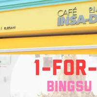 Cafe Insadong will be offering a 1-for-1 Bingsu and all menu items from 3rd - 5th May at their outlet at 279 Southbridge Road