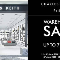 Charles & Keith and Pedro will be having their Warehouse Sale from 2 June to 5 June 2016. The sale will be held at Charles & Keith Group Headquarters (6 Tai Seng Link).