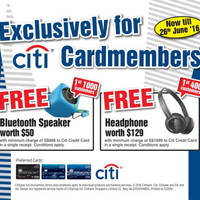 Read more about Harvey Norman Spend & Redeem Free Gifts for Citibank Cardmembers from 21 May - 26 Jun 2016