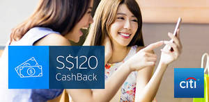 Citibank: Apply for selected credit cards & get $120 cashback from 17 Jan – 30 Jun 2017