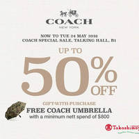 Read more about Coach Special Sale up to 50% off at Takashimaya from 19 - 24 May 2016