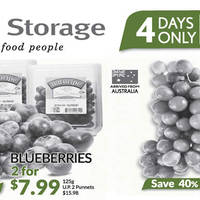 Check out Cold Storage's latest 4-Day offers. Grab Blueberries air-flown from the USA at 50% off, Red Crimson Seedless Grapes from Australia at 40% off and many more