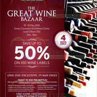 Read more about Cold Storage The Great Wine Bazaar at Suntec from 19 - 22 May 2016