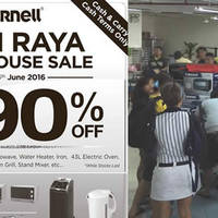 Cornell will be having a Warehouse Sale from 4 June to 5 June 2016, 11am - 6pm daily featuring a wide array of home and kitchen appliances at up to 90% off