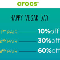 Read more about Crocs 10% to 60% Off Storewide 1-Day Promo on 21 May 2016
