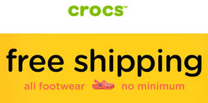 Crocs online store offers free shipping with no min spend required from 6 Dec 2016