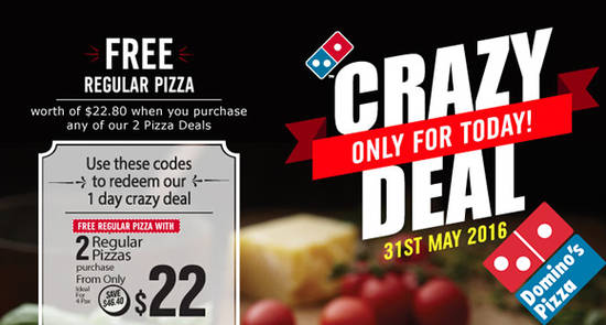 Dominos Pizza Feat 31 May 2016