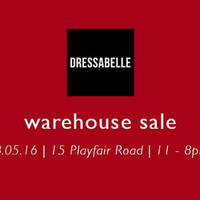 Dressabelle will be having a Warehouse Sale this 28.05.16 (Saturday) at their concept store [15 Playfair Road, 2nd Floor, S367987] from 11am - 8pm.