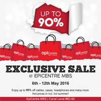 Epicentre is having an exclusive sale at their Marina Bay Sands outlet #B2-60 with discounts of up to 90% off