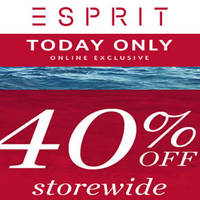 Read more about Esprit 40% OFF Storewide Online Promo on 24 May 2016