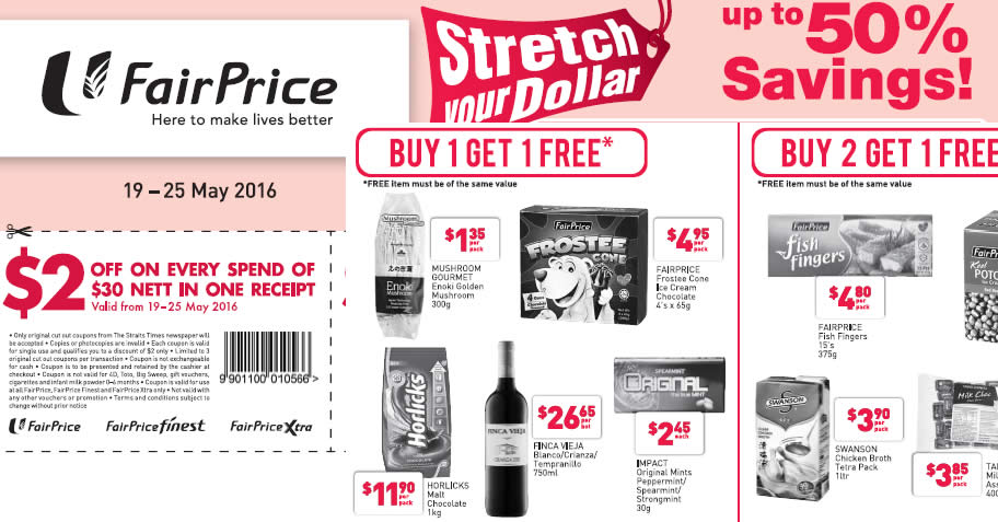 Fairprice 1for1 Feat 19 May 2016