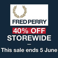 Read more about Fred Perry 40% Off Storewide from 19 May - 5 Jun 2016