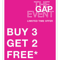 Read more about Gap Buy 3 Get 2 Free all Adult Items from 20 May 2016