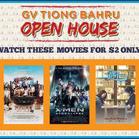 Golden Village celebrates their latest outlet opening at Tiong Bahru . As a form of appreciation, GV Movie Club members are invited to experience the newly renovated outlet for a movie at just $2!