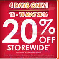 Read more about Guardian 20% OFF Storewide (NO Min Spend) from 12 - 15 May 2016
