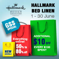 Enjoy even greater discount at the Hallmark Online Great Singapore Sale. From 1 June 2016, enjoy 50% - 80% off every item plus additional $10 off for every $100 spent!