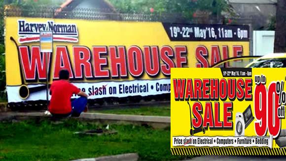 Harvey Norman Warehouse Feat 20 May 2016