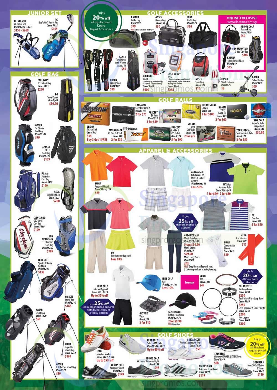 Junior Set, Golf Bag, Accessories, Balls, Shoes
