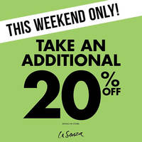 Read more about La Senza 20% OFF Promo from 20 - 22 May 2016