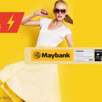 Enjoy 15% OFF storewide at Lazada www.lazada.sg with Maybank credit cards. Discount is capped at $20.
